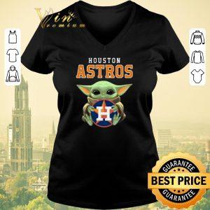 Awesome Baby Yoda Hug Houston Astros Logo shirt sweater