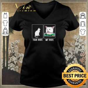 Awesome Cat your wife my wife Cat Yelling Woman Meme shirt sweater