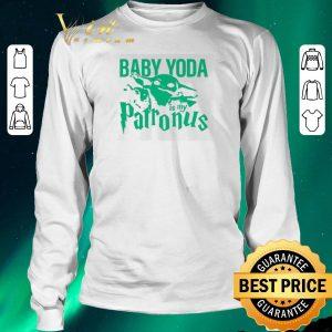 Awesome Mandalorian Baby Yoda is my patronus shirt sweater 2
