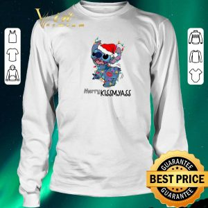 Awesome Stitch santa Merry Kissmyass Christmas shirt 2
