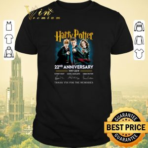 Awesome Thank you for the memories Harry Potter 22nd anniversary signed shirt