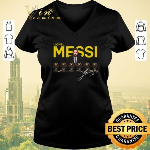 Awesome signature lionel messi 6 golden ball shirt