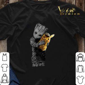 Baby Groot Hug Detective Pikachu Pokemon shirt sweater 2