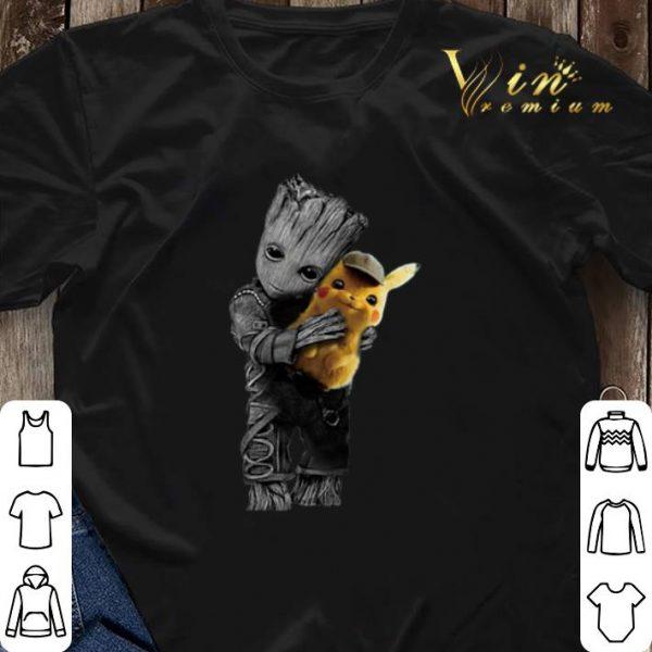 Baby Groot Hug Detective Pikachu Pokemon shirt sweater