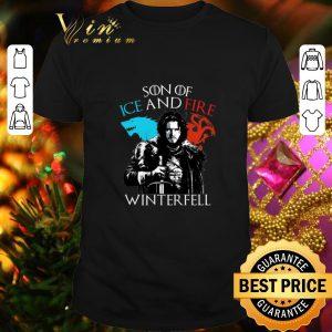 Cheap Jon Snow Son of ice and fire Winterfell shirt