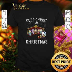 Cheap Peanuts characters Keep Christ in Christmas Snoopy Charlie Brown shirt