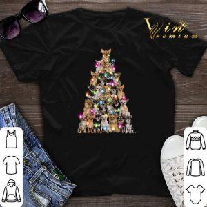 Chihuahua Christmas light Christmas tree shirt