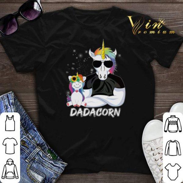 Christmas Dadacorn Unicorn Dad And Daughter shirt