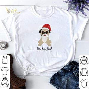 Christmas Pug dog santa ho ho ho shirt