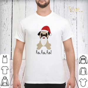 Christmas Pug dog santa ho ho ho shirt 2