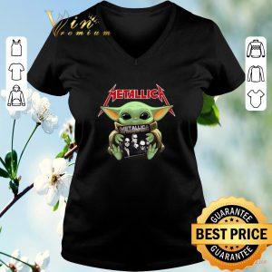 Funny Baby Yoda hug Metallica Star Wars shirt sweater 1