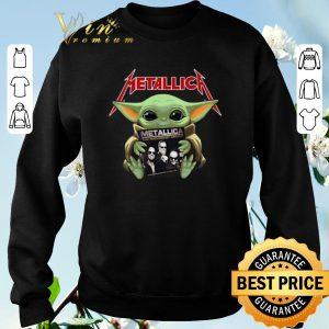 Funny Baby Yoda hug Metallica Star Wars shirt sweater 2