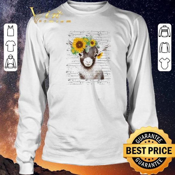 Funny Baby goat sunflower shirt sweater