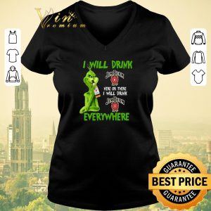 Funny Grinch i will drink Jim Beam here or there i will drink Jim Beam shirt sweater