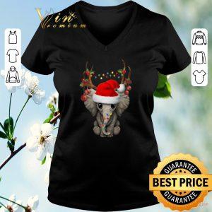 Funny Santa elephant reindeer Christmas shirt sweater