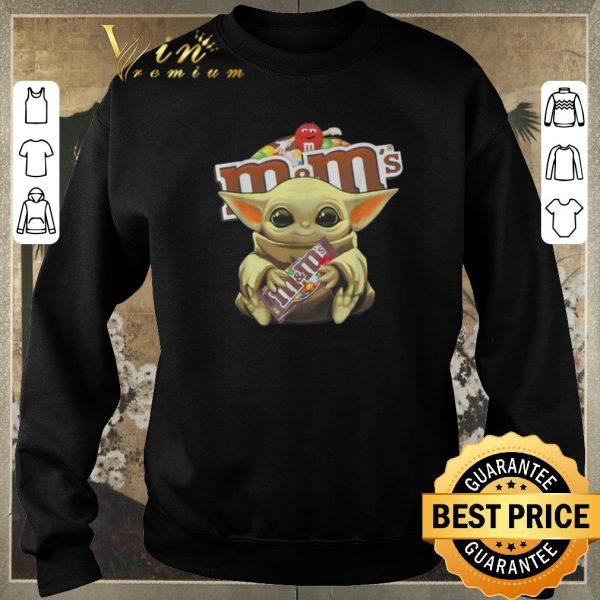 Funny Star Wars Baby Yoda hug M&M's Mandalorian shirt sweater