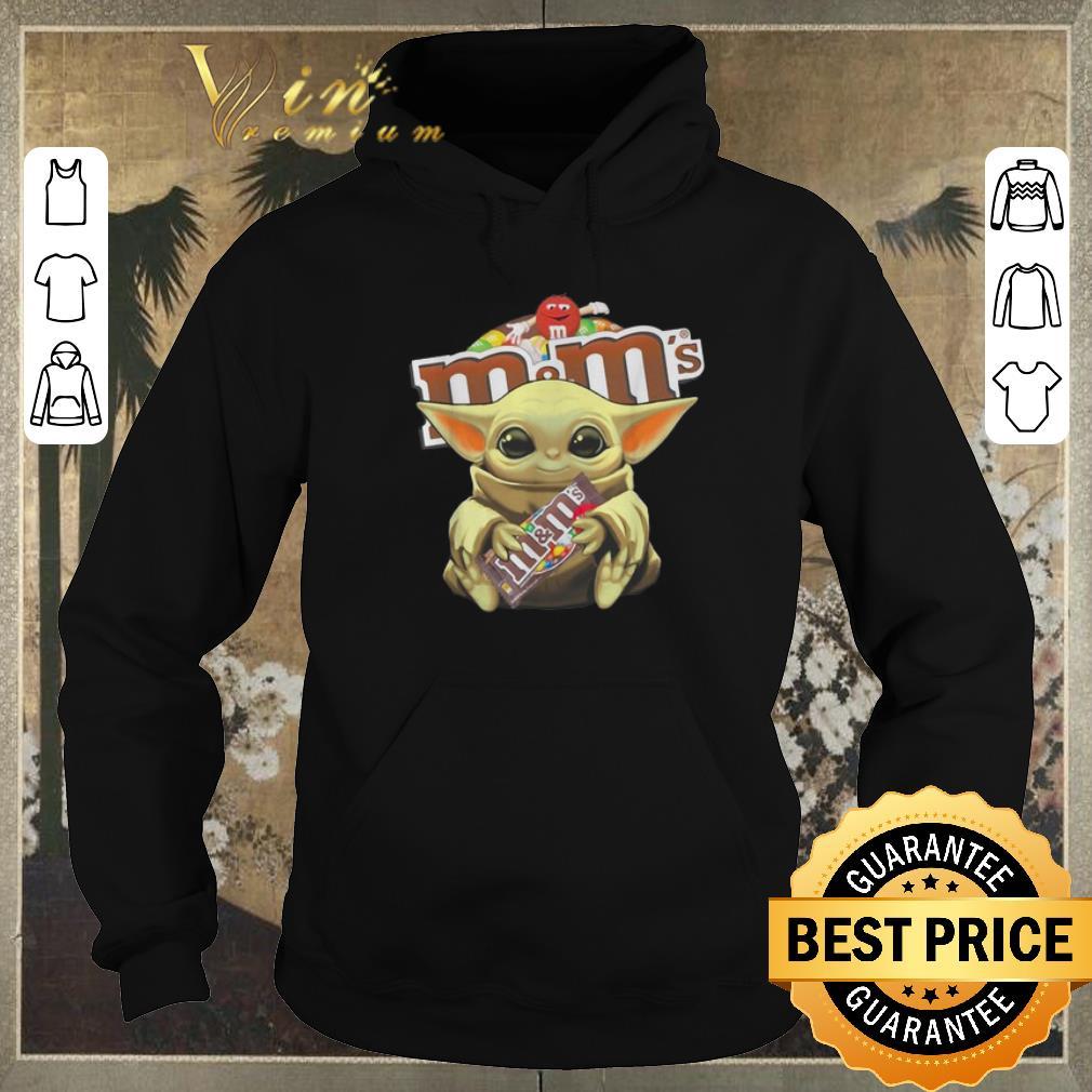 Funny Star Wars Baby Yoda hug M M s Mandalorian shirt sweater 4 - Funny Star Wars Baby Yoda hug M&M's Mandalorian shirt sweater