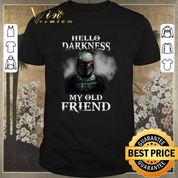 Funny The Mandalorian hello darkness my old friends Boba Fett shirt sweater