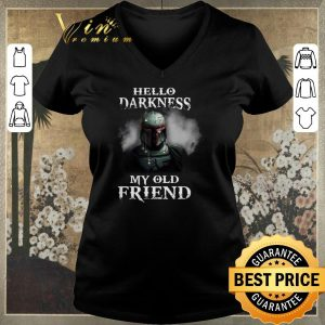 Funny The Mandalorian hello darkness my old friends Boba Fett shirt sweater 1