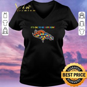 Hot Autism Awareness It's Ok To Be Different Denver Broncos shirt sweater