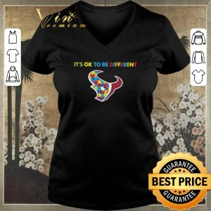 Hot Autism Awareness It's Ok To Be Different Houston Texans shirt sweater