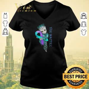 Hot Baby Groot Suicide Prevention Awareness you matter shirt sweater