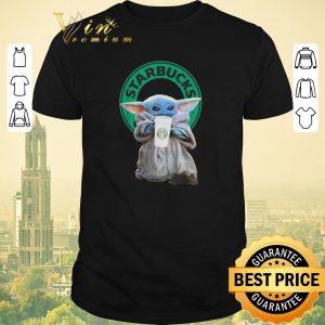 Hot Baby Yoda drinking Starbucks Star Wars shirt sweater