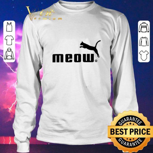 Hot Cat meow Puma shirt sweater