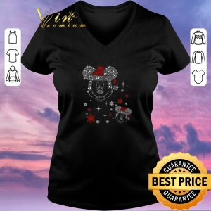 Hot Diamond Mickey head Christmas shirt sweater