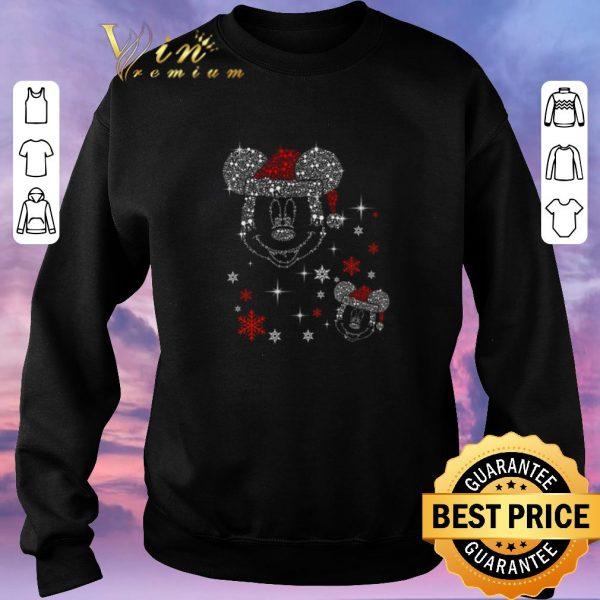 Hot Diamond Mickey head Christmas shirt sweater