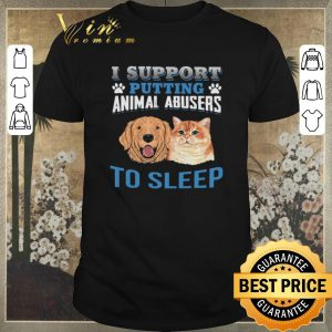 Hot Dog cat I support putting animal abusers to sleep shirt sweater
