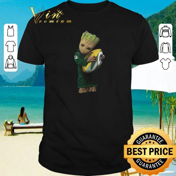 Hot Green Bay Packers Baby Groot hug rugby ball shirt 2020