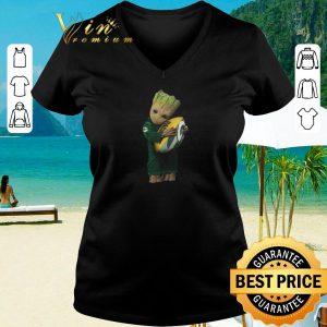 Hot Green Bay Packers Baby Groot hug rugby ball shirt 2020 2