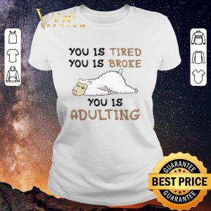 Hot Llama you is tired you is broke you is adulting shirt sweater