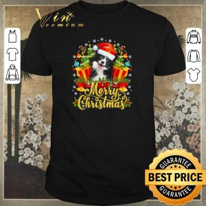 Hot Merry Christmas Border Collie Santa Hat shirt sweater