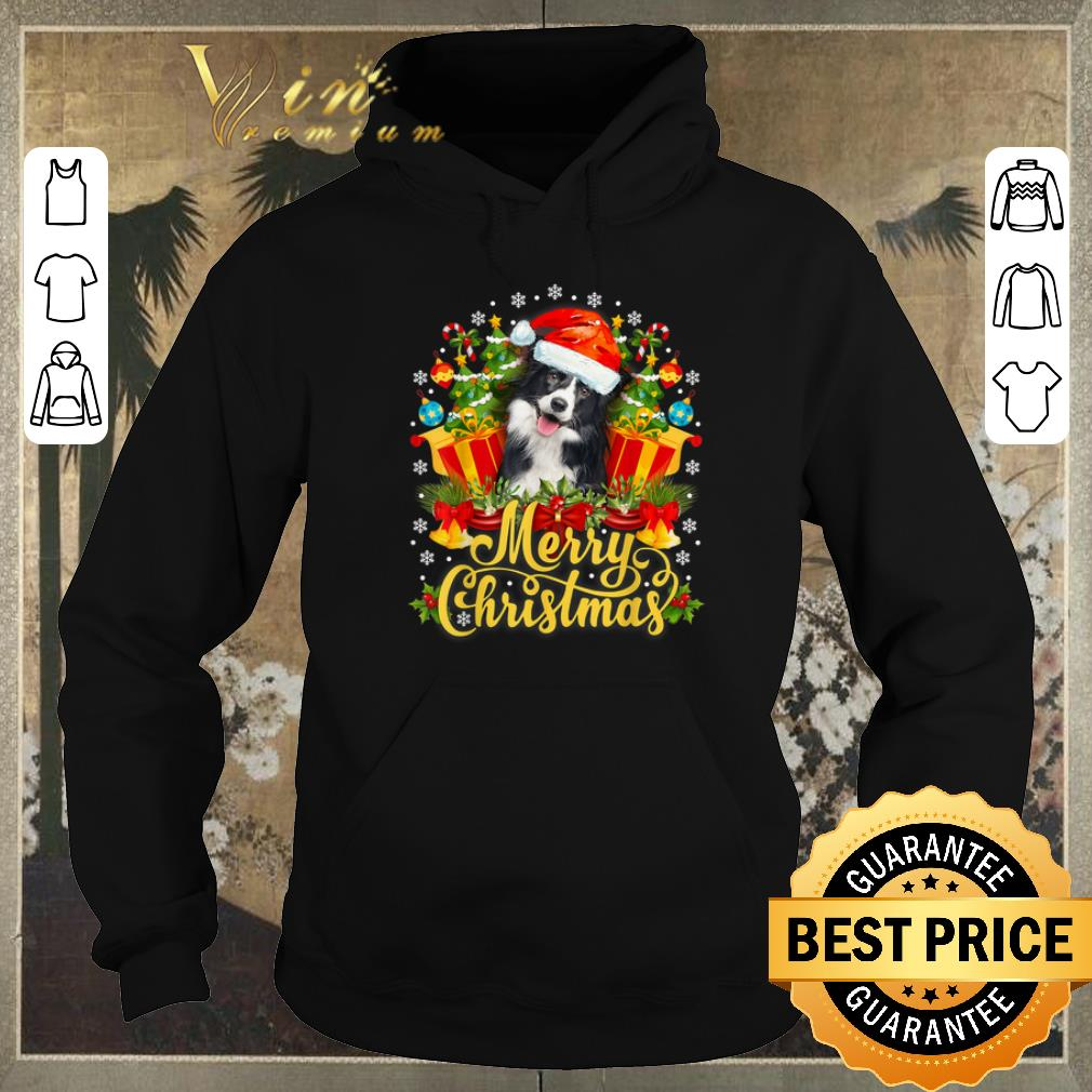 Hot Merry Christmas Border Collie Santa Hat shirt sweater 4 - Hot Merry Christmas Border Collie Santa Hat shirt sweater