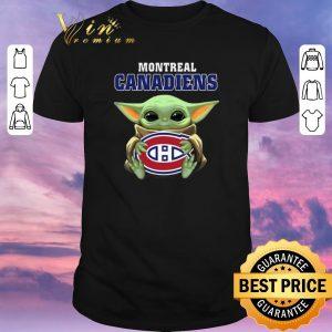 Hot Star Wars Baby Groot hug Montreal Canadiens shirt