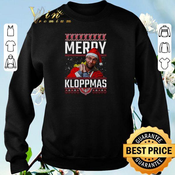 Hot Ugly Christmas Merry Kloppmas Jurgen Klopp LFC shirt