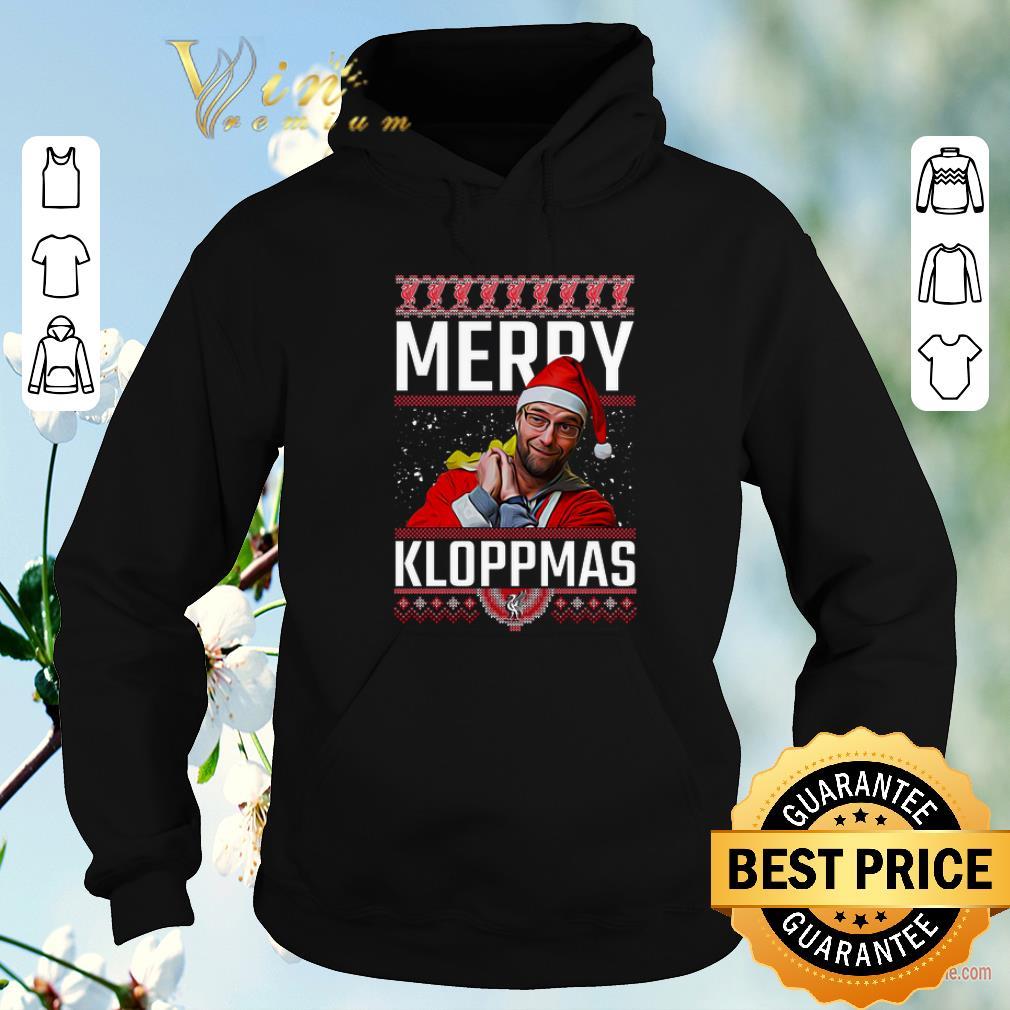 Hot Ugly Christmas Merry Kloppmas Jurgen Klopp LFC shirt 4 - Hot Ugly Christmas Merry Kloppmas Jurgen Klopp LFC shirt