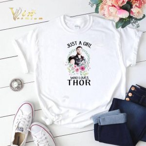 Just a girl who loves Thor flower shirt sweater