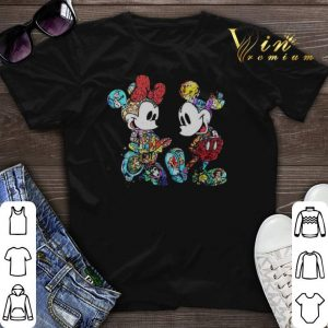 Mickey and Minnie Mouse with all Disney characters shirt sweater