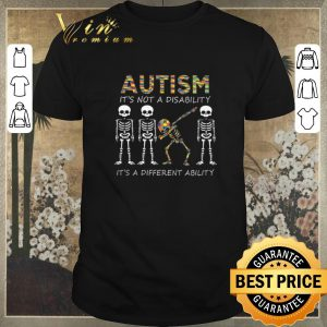 Nice Autism it's not a disability it's a different dabbing skeleton shirt sweater