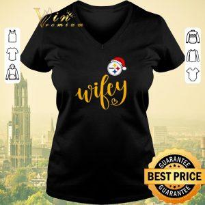 Nice Christmas Santa Pittsburgh Steelers Wifey shirt