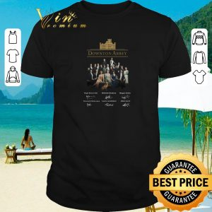 Nice Downton Abbey all character signatures shirt 2020