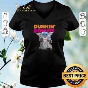 Nice Star Wars Baby Yoda holding Dunkin Donuts shirt