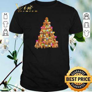 Official Christmas Tree Goldendoodle dog lights shirt