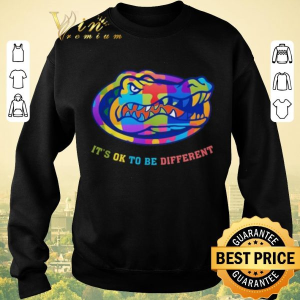 Official Florida Gators Autism It's OK To Be Different shirt sweater
