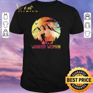 Official Hiking Girl With Dog Wander Woman shirt sweater