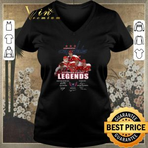 Official Signatures Washington Capitals Pittsburgh Steelers Legends shirt