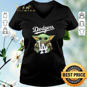 Original Baby Yoda hug Los Angeles Dodgers Star Wars Mandalorian shirt sweater